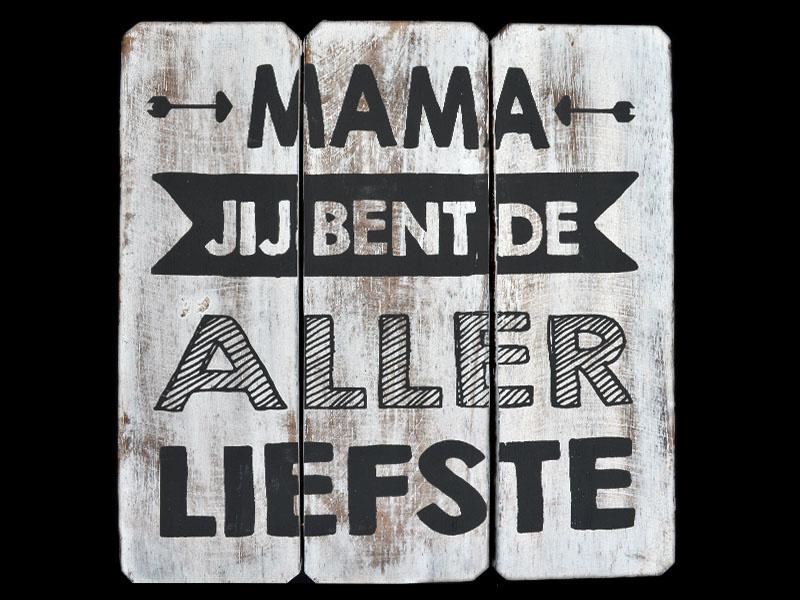 1693 Tekstbord 20cm Liefste Mama - Woodart