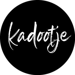 Kadootje schuin zwart/wit  - 10 stuks - Kado etiket