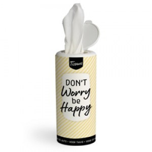 Tissues koker - don't worry be happy - PAKKETPOST!!