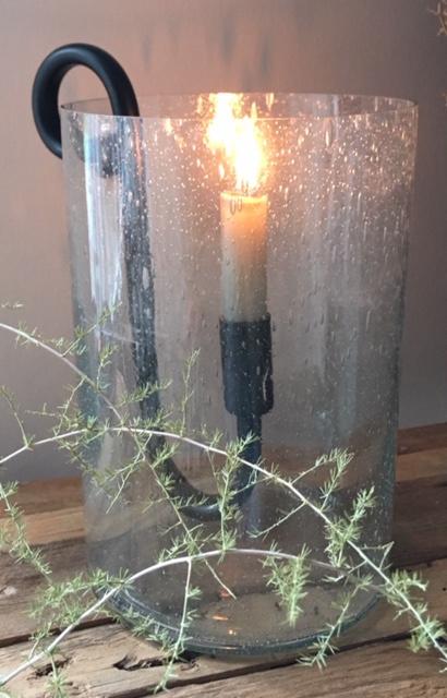Windlicht Bubbels met Hangkandelaar