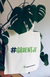 Fairtrade bio katoenen tote bag #Groentje