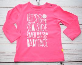 Nieuw : Babyface - longsleeve roze