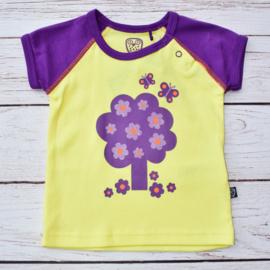 Nieuw : Ej Sikke Lej - T-shirt paars geel