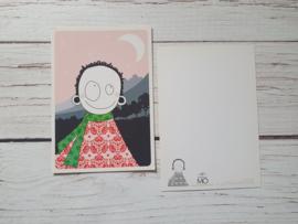 Nieuw : Postkaart - Madam Mo