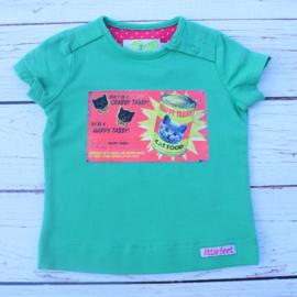 Nieuw : Little Feet - Groen T-shirt Mt. 74