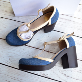 Nieuw : Who's That Girl denim pumps