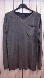 Nieuw : Crush Denim - Zwart grijze sweater