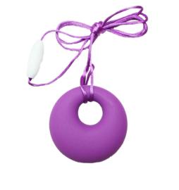 Nieuw : Bijt - borstvoeding ketting rond paars