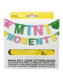 Nieuw : Minimou – MiniMoments letterslinger