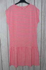Nieuw : Name it - Flamingo roze gestreepte jurk Mt. 158