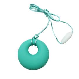 Nieuw : Bijt - borstvoeding ketting rond  mint