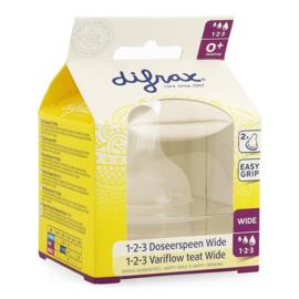 Nieuw : Difrax 1-2-3 Doseerspeen Wide