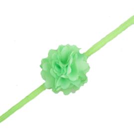 Nieuw : Haarband fluffy flower - Ass. kleur