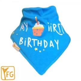 Nieuw : Zeversjaaltjes Funky Giraffe  blue birthday