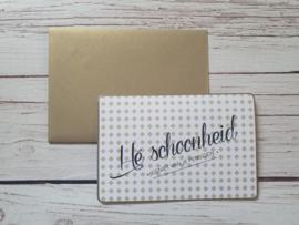 """Nieuw : Postkaart - Enfant Terrible """" Hé Schoonheid"""""""