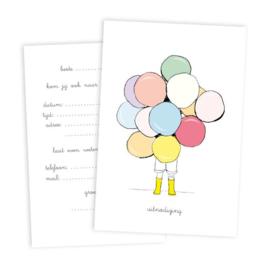 Nieuw : 5 uitnodigingen + enveloppe