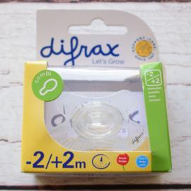 Nieuw : Difrax fopspeen Combi - 2 / + 2 mnd.
