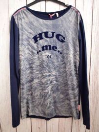 """Nieuw : Moodstreet - Donker blauwe  longsleeve """"Hug Me""""  Mt. 170-176"""