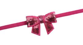 Nieuw : Haarband strik - Ass. kleur