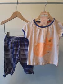 Nieuw : Fred & Ginger - Tweedelige pyjama zomer Mt. 92
