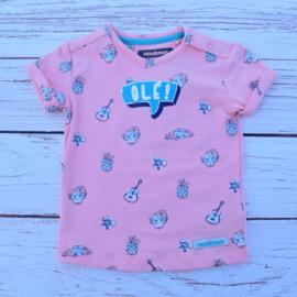 Nieuw : Moodstreet - AOP roze T-shirt