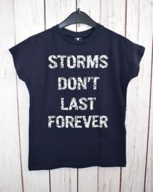 "Nieuw : Name it - Donker blauw T-shirt ""Storms"""