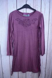 Nieuw : Lill'g Treasures - Melee Jersey paarse jurk