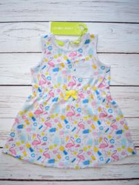 Nieuw : Lemon Beret Flamingo jurk grijs