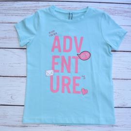"""Nieuw : Name it - Blauw T-shirt """"Adventure"""""""