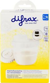 Nieuw : Difrax kolfaansluiting inclusief bewaarbakje