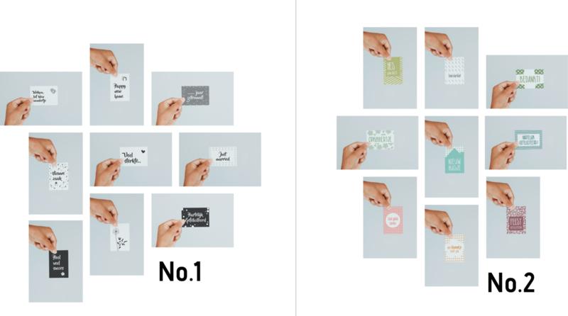 Mini kaartjes (set van 9)