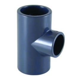 PVC T-stuk 90° 2 x Ø25 x Ø20 PN16