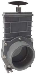 Valterra 110mm PVC blad, RVS 304 spindel