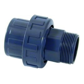 """PVC 3/3 koppeling 2½"""" binnendraad 2½"""" buitendraad PN10"""