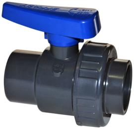 PVC kogelkraan 20mm lijm 1 x wartel PN16