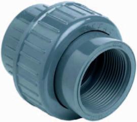 """PVC 3/3 koppeling 12 x ¼"""" binnendraad PN16"""