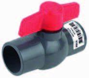 PVC kogelkraan unibody 32mm PN10
