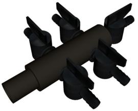 Luchtverdeler 9 mm kunststof 3 uitgangen