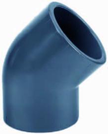 """PVC knie 45° 1½"""" lijm PN16"""