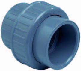 "PVC 3/3 koppeling O-ring 1½"" lijm PN16"