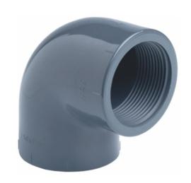 """PVC knie 90° 16 x 3/8"""" binnendraad PN16"""