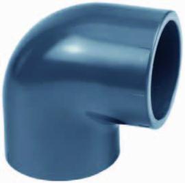 """PVC knie 90° 1½"""" lijm PN16"""