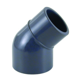 PVC knie 45° 63 x 63 - 50mm PN16