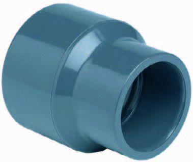 PVC verloopsok 63/75 x 40mm PN16
