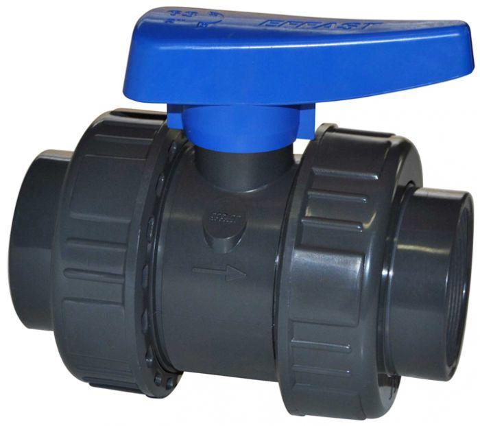 PVC kogelkraan 25mm lijm PN16