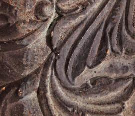 Blackened bronze base coat en patina