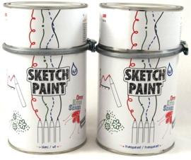 Sketch paint Whiteboard wit glans 0,5 liter