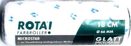 Muurverfrol glad effect / Microvezel lakrol