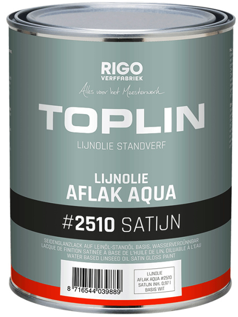 Toplin Aqua aflak satijn