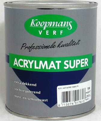 Acrylmat Super Donkere kleuren